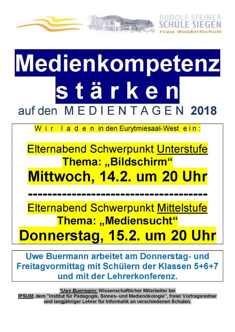 Ankündigung Vortrag Buermann 2018