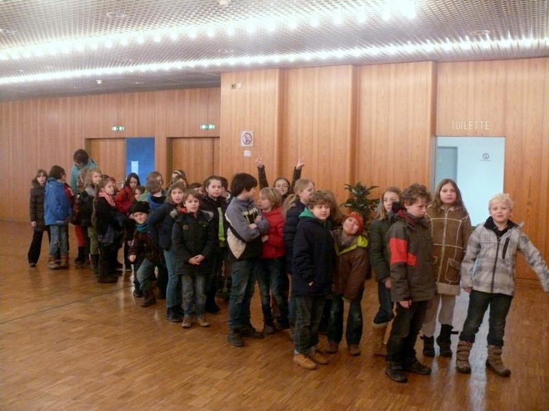 Klasse 3 - Vor dem Konzert