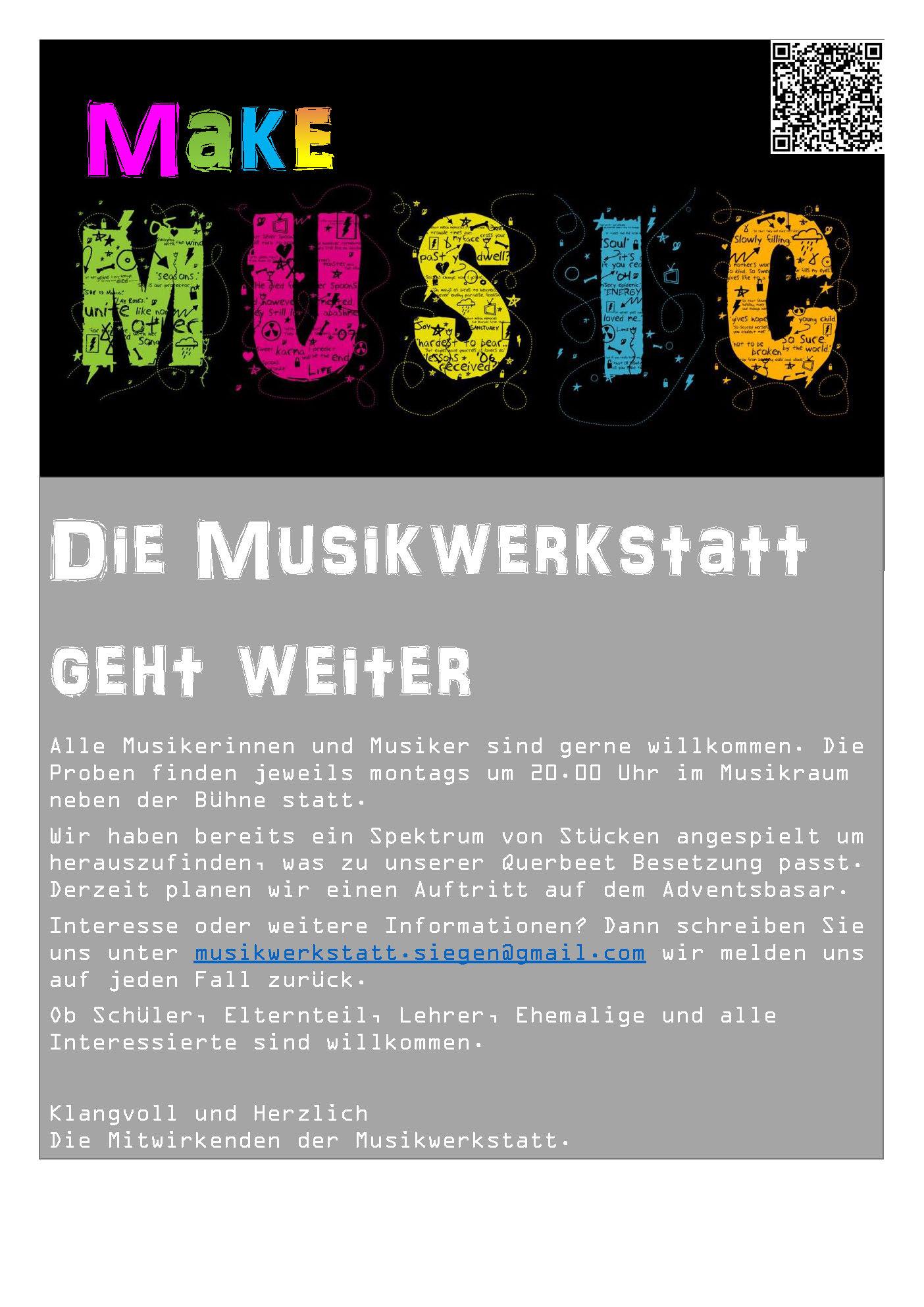 Annonce 2 Musikwerkstatt